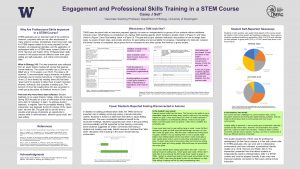 Engagement and Professional Skills Training in a STEM Course