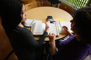 Students studying at UW Bothell